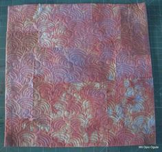 ice dyed pastel fabrics used in quilts | For the appliqued flowers I used commercial batiks and for the vase a ...