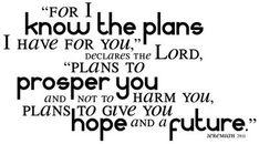 Jeremiah 29:11, my favorite bible verse.