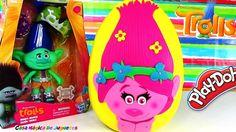 Huevo Sorpresa Gigante de Poppy de Trolls la Pelicula hecho de Plastilin...