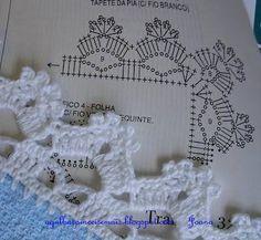 Sugestão de borda em crochê. Imagem da internet.