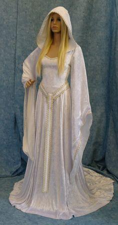 Elven dress,wedding dress,  cosplay dress. larp, medieval dress, renaissance dress, fairy dress, medieval girdle belt, custom made