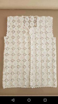 Hand Knitting Women's Sweaters Crochet Waistcoat, Gilet Crochet, Crochet Coat, Crochet Blouse, Crochet Clothes, Crochet Baby Dress Pattern, Granny Square Crochet Pattern, Crochet Stitches Patterns, Crochet Designs