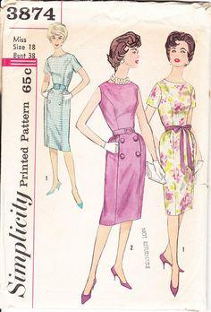 Vintage Sewing Pattern Women's Sheath Style by ilovevintagestuff