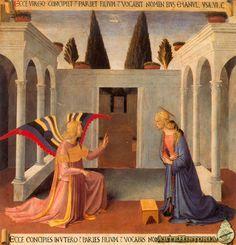 Anunciación ,Beato Angélico, 1450