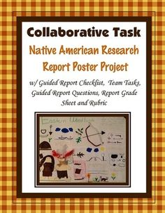 This is a group project/team task research report project.  Included are a guided checklist, tribe task roles, guided task questions for each team member, task instructions, rubric and grade sheet and more.Included in doc and pdf formats.