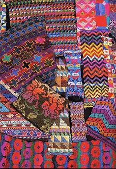 """""""Working with colour is not an intellectual game. You should see what your heart feels, that way you will stumble across more and more personal excitement in your work."""" --Kaffe Fassett knitting"""