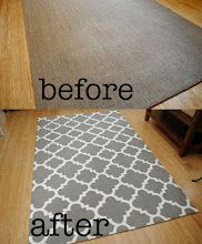 DIY How to paint a sisal rug in Moroccan pattern.
