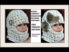 HOW TO CROCHET a beanie or balaclava ski mask, Baby Hat, Newborn - 6 months - YouTube