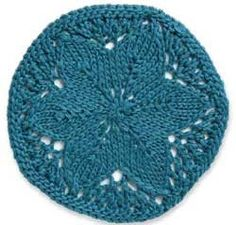 Free knitting pattern for flower medallion from Knitting Daily