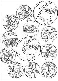 Earth Day Worksheets, Earth Day Activities, Kids Learning Activities, Kindergarten Activities, Science Activities, Preschool Crafts, Teaching Kids, Earth Day Coloring Pages, House Colouring Pages