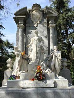 Monumento a la Infanta Isabel en el Parque del Oeste, Madrid.