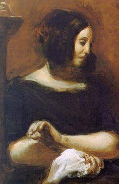 Eugène Delacroix - Portrait de George Sand