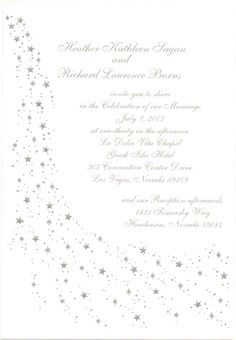 Star Theme Weddings