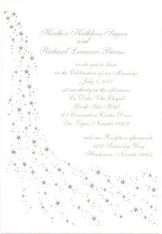 Star Theme Weddings