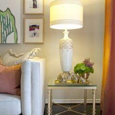 Domicile id - Contemporary - Living Room - Orange County - Domicile Interior Design Living Room End Table Lamps, Bedside Table Lamps, Living Room Lighting, Living Room Decor, Living Rooms, Table Lighting, Modern Lighting, Bedroom Table, Interior Lighting