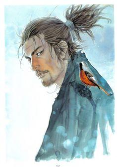 Musashi from Vagabond by Takehiko Inoue Manga Anime, Art Manga, Anime Art, Vagabond Manga, Male Character, Character Design, Arte Do Hip Hop, Cooler Stil, Miyamoto Musashi