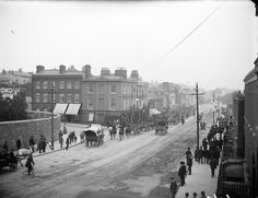 Taken on Parkgate Street in Dublin. Photographer: Almost certainly Robert French of Lawrence Photographic Studios, Dublin Date: NLI Ref. Ireland Pictures, Old Pictures, Old Photos, Vintage Photos, Ireland 1916, Dublin Ireland, Dublin Street, Dublin City, Irish Independence