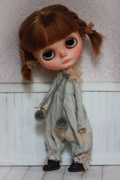 Winter Couture - Overalls - For Blythe Doll