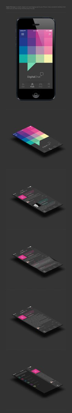 Digital Chat - #UI #UX #Interface #Mobile
