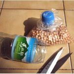Reuse of bottle caps.