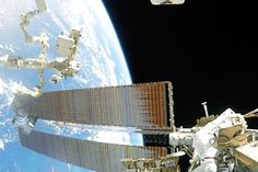 """Using a """"space-proof"""" camera mounted on the chest of his spacesuit, ESA astronaut Thomas Pesquet captured video of a January 13, 2017 spacewalk. Pesquet and NASA astronaut Shane Kimbrough completed a power upgrade for the ISS."""
