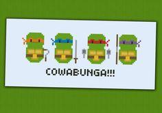 Parodie de tortues Ninja Teenage - Croix broderie PDF