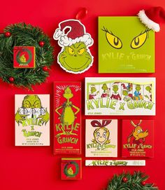 Kylie X The Grinch packaging 💚🎄 Our limited edition holiday collection in collaboration with @thedrseuss launches 11.19 3pm pst on KylieCosmetics.com ✨ Who's excited?