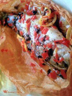 Branzino al cartoccio con peperoni una ricetta semplice da preparare, leggera e gustosa!