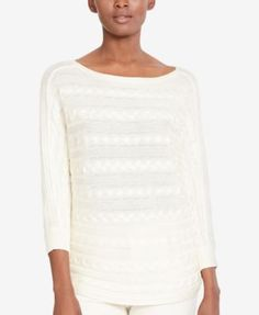 Lauren Ralph Lauren Cable-Knit Boat-Neck Sweater, A Macy's Exclusive