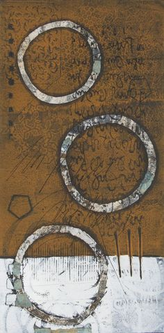 Out of Bounds by Anne Moore. - I don't think I have seen a monoprint of Anne Moore's that I didn't like (a lot). S