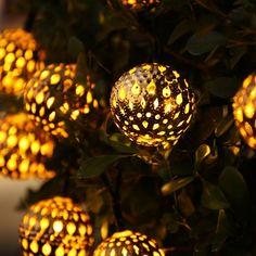 Luckled 11ft 10 Led Moroccan Ball Solar String Lights Fairy Globe Lantern Decorative Lighting For Indoor Outdoor Home Garden Patio Lawn Path