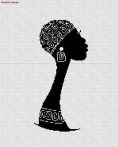 Africana punto cruz Cross Stitch Borders, Cross Stitch Charts, Cross Stitching, Cross Stitch Patterns, Crochet Motifs, Crochet Patterns, American Quilt, Peyote Patterns, Embroidery Art