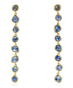 $330.0. MONICA VINADER Jewelry Gold Vermeil Siren Kyanite Mini Nugget Cocktail Earrings #monicavinader #jewelry #earring #accessories Gold Jewelry, Jewelery, Engraving Services, Eternity Ring Diamond, Blue Lace Agate, Carat Gold, Precious Metals, Cocktail, Gems