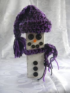 Winter Snowman by TheRusticBumblebee on Etsy