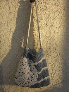 Crocheted bag, I love this idea.