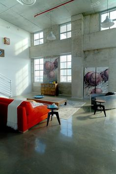 #ARTmetal © ideas. www.aias.se Heavy Tone Space by Industrial Loft Interior Design Danna B Interiors envisioned this loft interior design with industrial touch to comply with remarkable contemporary style. Spacious space balances the look of heavy nuance from the metal and concrete elements. High ceiling also contributes to gain more airy ambiance embracing the living room. Metal made accessories and furniture come up to show the industrial theme which has solid look in some weighty feeling.