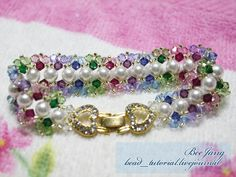 [Tutorial] Crystal Bracelet #14  Tutorial : Crystal Bracelet #14 Level : Beginner
