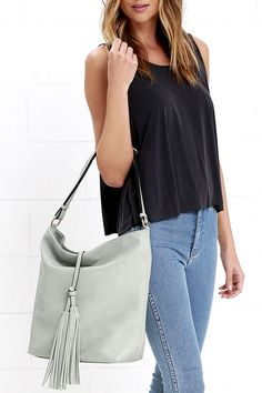 City Sunrise Grey Tote at Lulus.com!