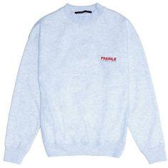 Studio Concrete \'Aerospace\' unisex sweatshirt ($285) ❤ liked on Polyvore featuring men's fashion, men's clothing, men's hoodies, men's sweatshirts, mens crewneck sweatshirts and mens crew neck sweatshirts