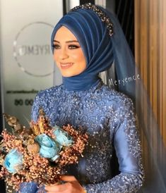 There are different rumors about the annals of the wedding … Muslimah Wedding Dress, Disney Wedding Dresses, Hijab Bride, Pakistani Wedding Dresses, Blue Wedding Dresses, Bridal Dresses, Bridal Hijab Styles, Muslim Brides, Muslim Couples