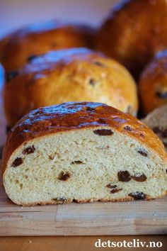 "- Ambrosia Brød - smaller ""Julebrød"" or Christmas Bread, sweet bread baked before Christmas, wonderful with just butter or jam, - would knead butter into dough at last - almost brioche-style. Christmas Bread, Christmas Baking, Stavanger, Breakfast For Dinner, Frisk, Sweet Bread, Bread Baking, Scones, Banana Bread"
