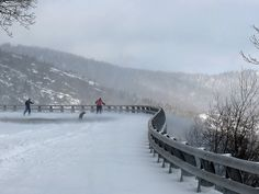 Skiing on the Parkway