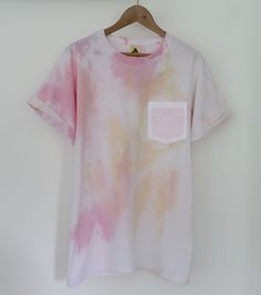 Image of Pastel Water Colour Pocket Tee SOLD OUT
