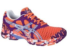 The choice for triathletes, famous for its performance and head-turning design. With elastic laces and softer, non-slip lining material which allows the shoe to be worn barefoot. Would love a pair of these! Clemson Football, Clemson Tigers, Football Fans, Orange Is The New Black, Orange And Purple, Asics Gel Noosa, Asics Running Shoes, Running Sneakers, Volleyball Shoes