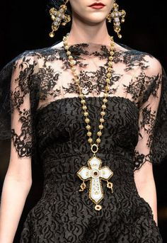 Byzantines crosses at Dolce & Gabbana