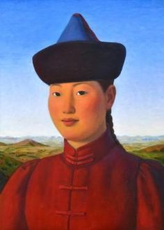 2010 GIRL WITH HAT, Xue Mo (b1966, Inner Mongolia, China; since 2011 based in Canada)