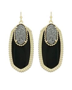 Dayton Earrings in Black Galaxy - Kendra Scott Jewelry. Click the earrings image and see alternate images for the special Halloween discount coupon!