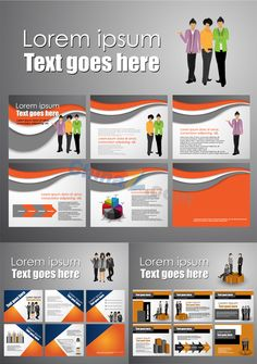 Company's business brochure design vector
