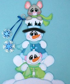 Discover thousands of images about Snowman Mice Pile Up Winter paper piecing premade scrapbook page Rhonda Christmas Sewing, Christmas Wood, Christmas Pictures, Christmas Projects, Snowman Crafts, Christmas Crafts, Christmas Clipart, Scrapbook Embellishments, Tole Painting