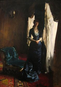 Madame Paul Escudier by Jon Singer Sargent.  I love windows and I like how the artist used the light from the windows to illuminate the subject.